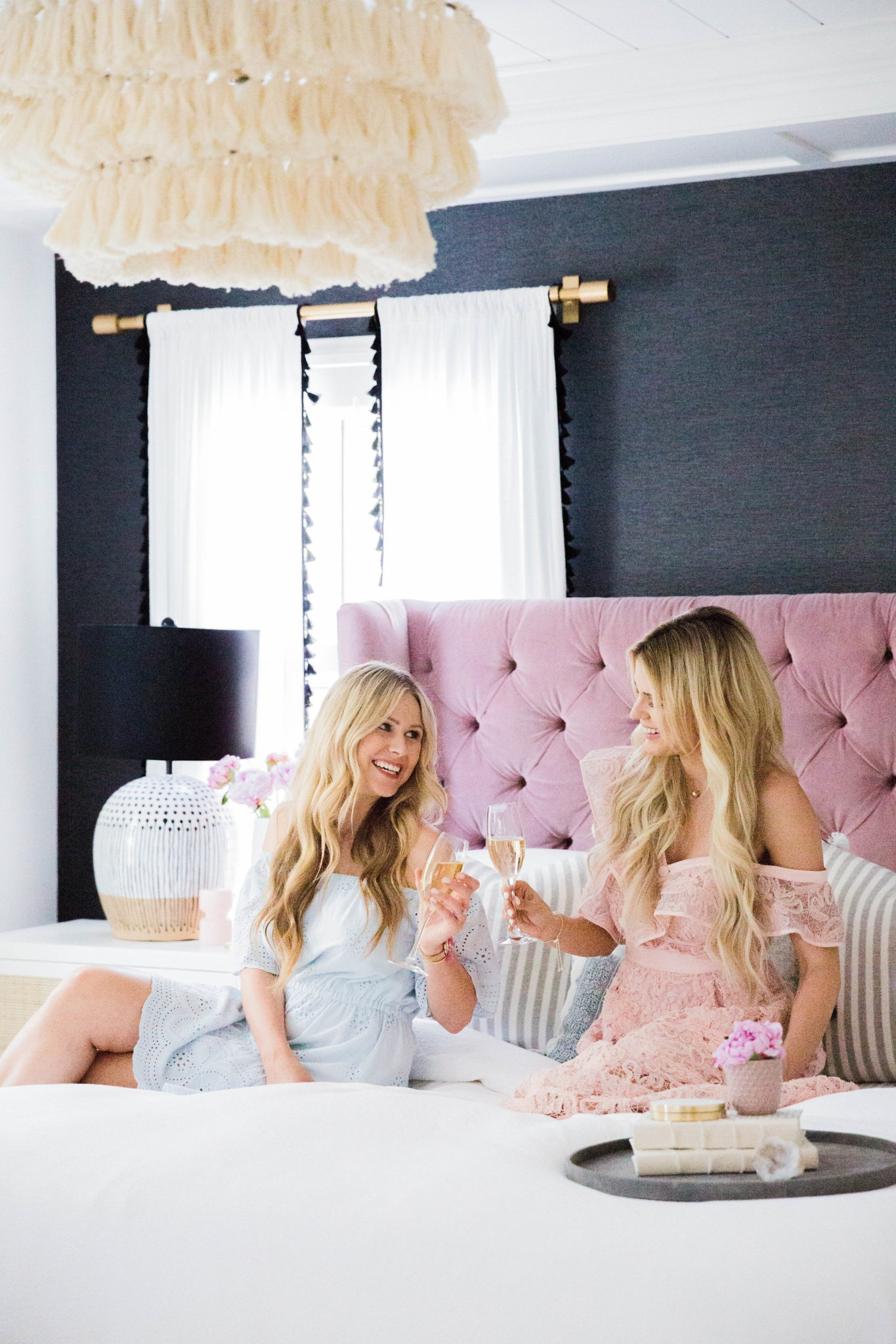 Orange County Interior Designer Lindye Galloway Shares Sapphire Diaries  Bedroom Reveal.